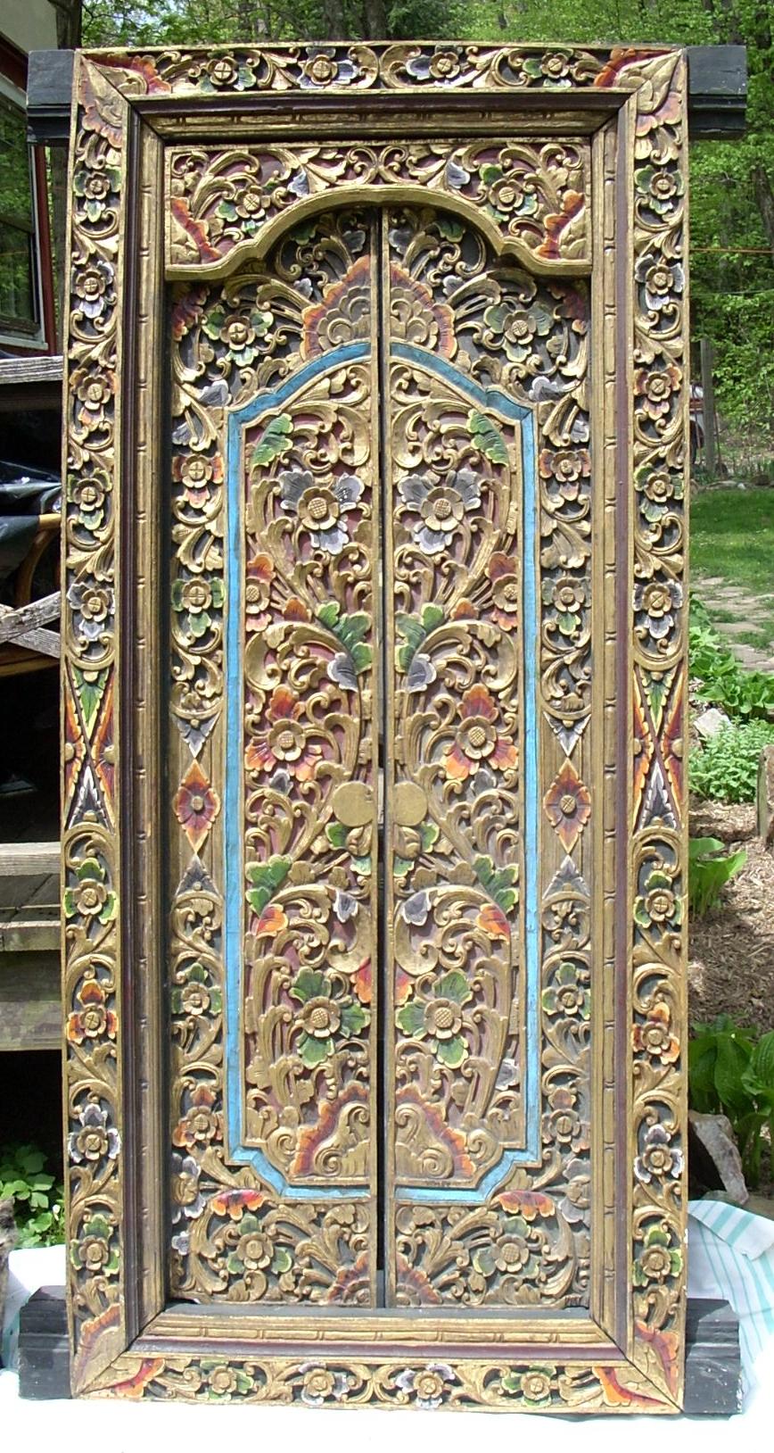 Balinese Temple Doors · Persian Rug Pillows & Past Favorites - Marierogatantiques.com